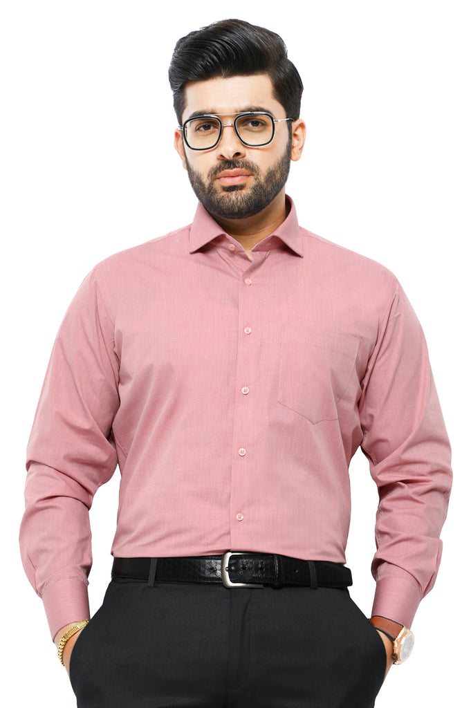 Formal Man Shirt SKU: AB206-Peach - Diners