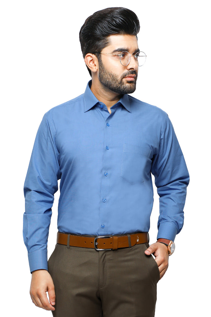 Formal Plain Shirt in Sky-Blue SKU: AB206-Sky-Blue - Diners