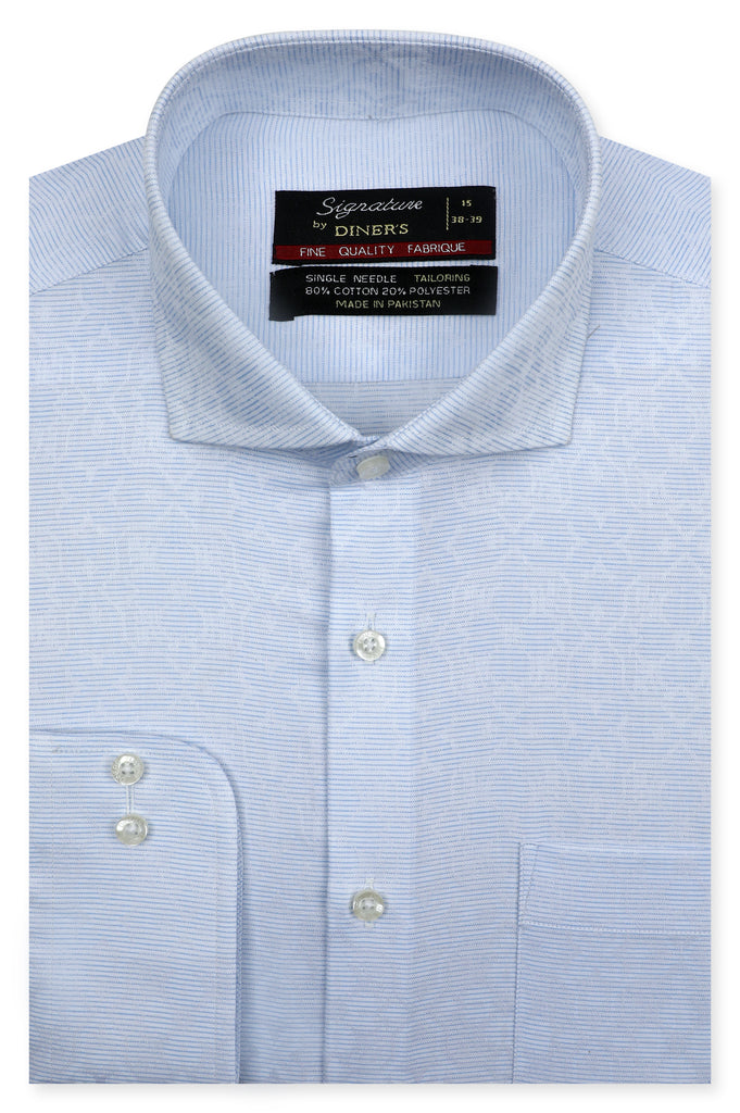 Formal Man Shirt SKU: AB20619-L-BLUE - Diners