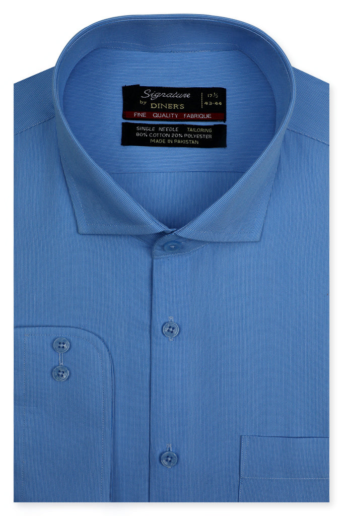 Formal Man Shirt SKU: AB20653-L-BLUE - Diners