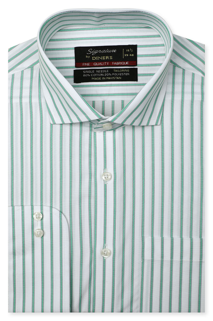 Formal Man Shirt in Green SKU: AB20670