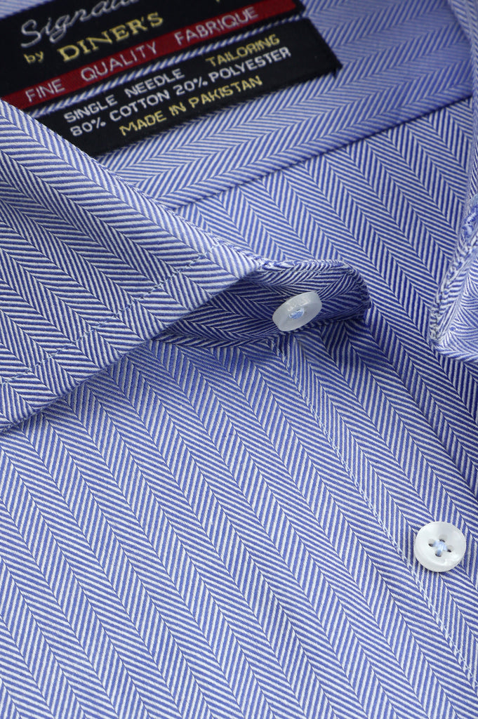 Formal Man Shirt in Blue SKU: AB23396-BLUE - Diners