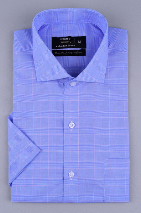 Formal Men Shirt in Blue SKU: AD19275-BLUE