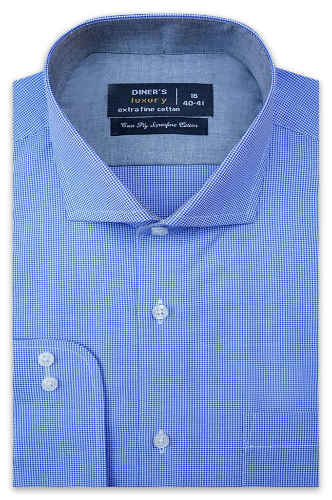 Formal Man Shirt SKU: AD21263-Blue