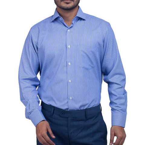Formal Shirt in Blue SKU: AD16731-Blue