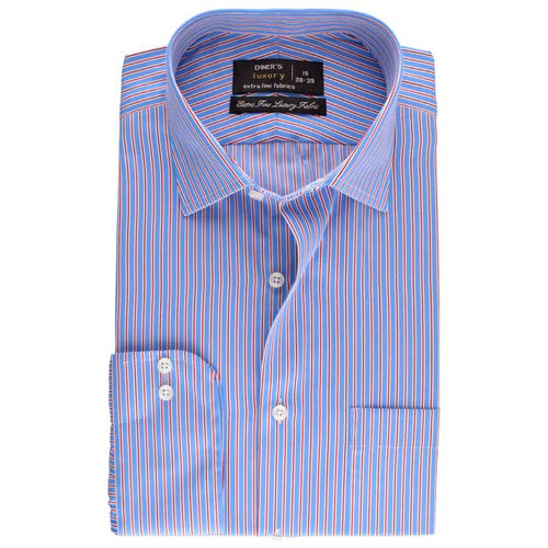 Formal Shirt in Sky-Blue SKU: AD18014 Sky-Blue