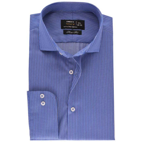 Formal Men Shirt In Blue SKU: AD18042-BLUE