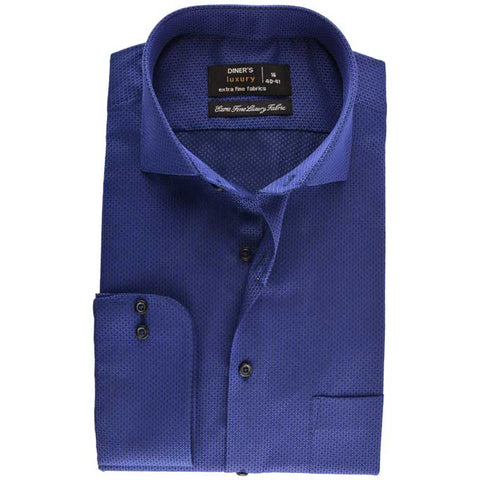 Formal Shirt in R-Blue SKU: AD18058-R-Blue