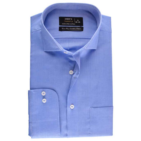 Formal Check Shirt in Blue SKU: AD18141-Blue