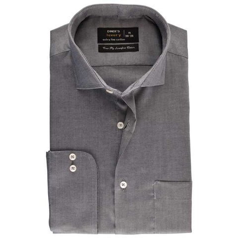 Formal Check Shirt in Grey SKU: AD18141-Grey