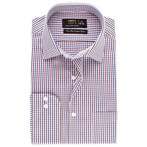 Formal Men Shirt SKU: AD18381-D-BLUE