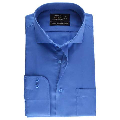 Formal Men Shirt In Blue SKU: AD18391-BLUE