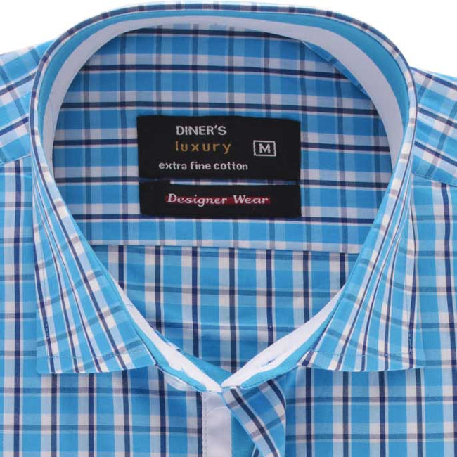 Formal Men Shirt in Sky Blue (Half Sleeves) SKU: AD18399-(05)-SKY-BLUE