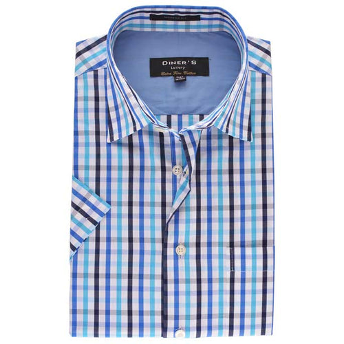 Formal Men Shirt in Sky Blue (Half Sleeves) SKU: AD18399-(15)-SKY-BLUE