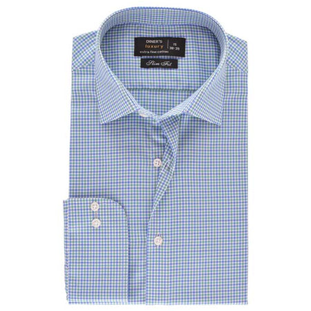Formal Men Shirt in L-Blue SKU: AD18037-L-BLUE