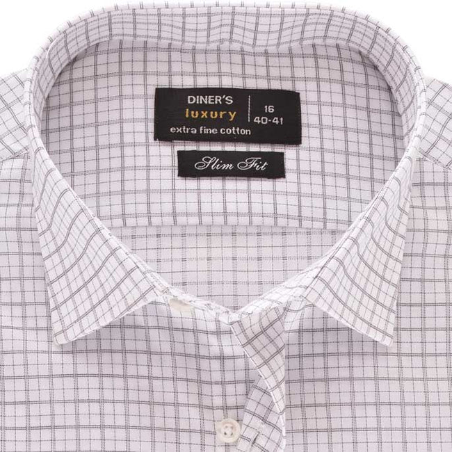 Formal Shirt in White SKU: AD18443-WHITE