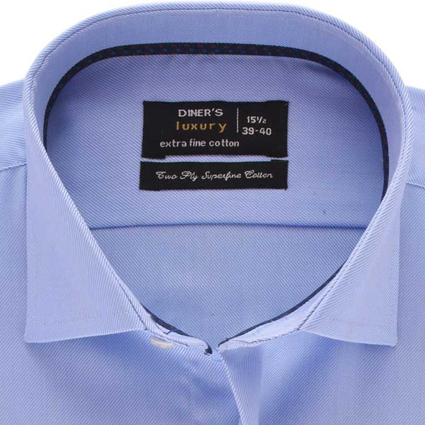 Formal Men Shirt in Blue SKU: AD18518-BLUE