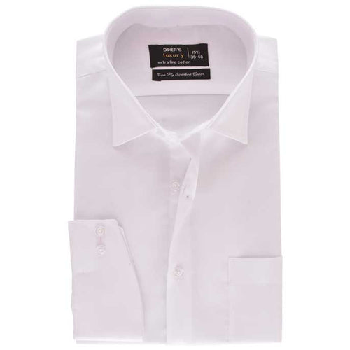 Formal Men Shirt in White SKU: AD18518-WHITE