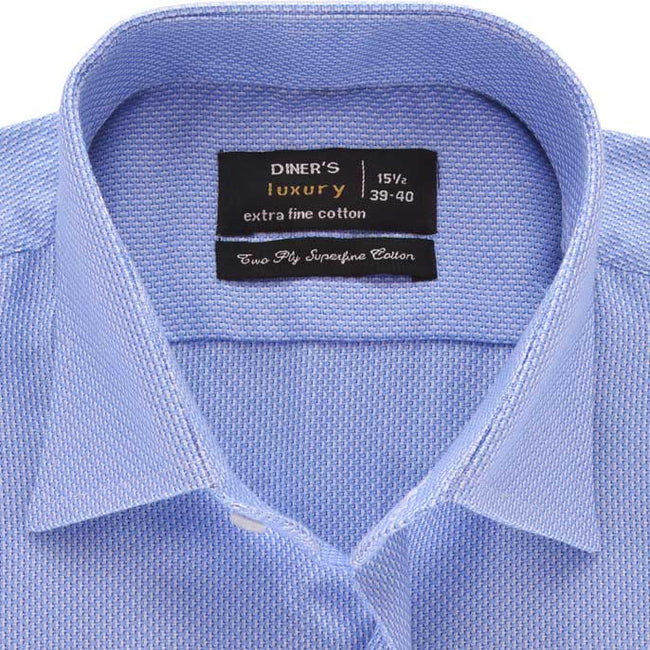 Formal Men Shirt in Blue SKU: AD18526-Blue