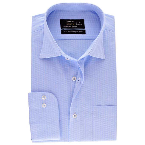 Formal Men Shirt in Sky-Blue SKU: AD18527-SKY-BLUE