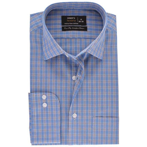 Formal Men Shirt SKU: AD18660-BLUE