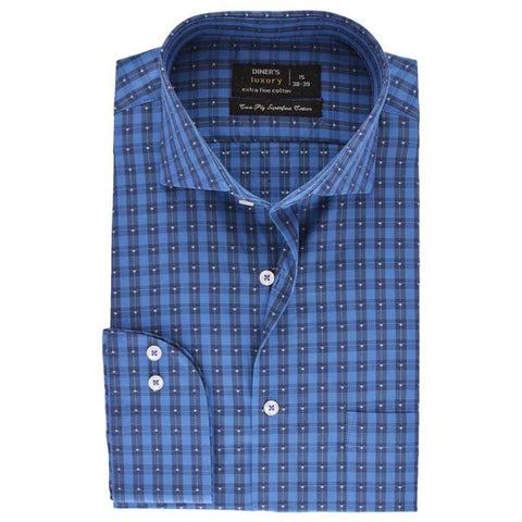 Formal Men Shirt SKU: AD18701-BLUE