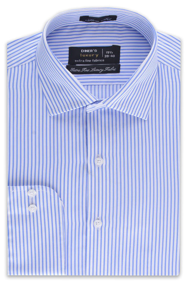 Formal Men Shirt in L-Blue SKU: AD19154-L-BLUE
