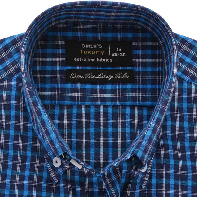 Formal Men Shirt in R-Blue SKU: AD19176-R-BLUE