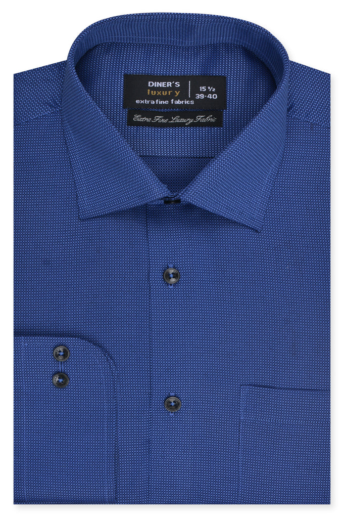 Formal Man Shirt in Blue SKU: AD19181-Blue - Diners