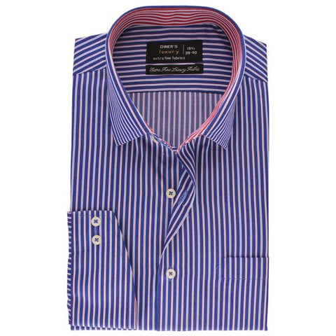 Formal Men Shirt SKU: AD19190-BLUE