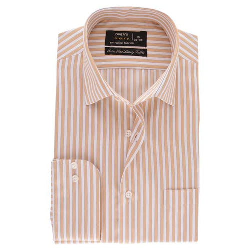 Formal Men Shirt SKU: AD19196-L-BROWN