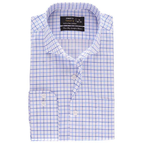 Formal Men Shirt in Sky Blue SKU: AD19205-SKY-BLUE