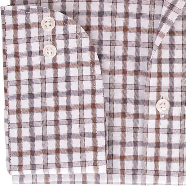 Formal Shirt in Brown SKU: AD19207-BROWN