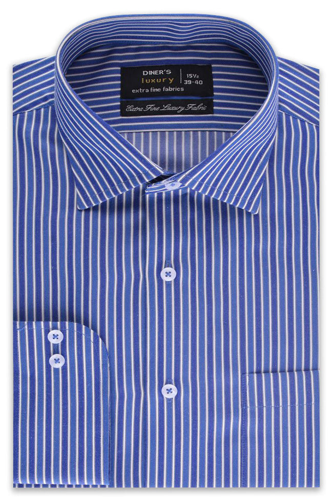 Formal Shirt in Blue SKU: AD19214-BLUE