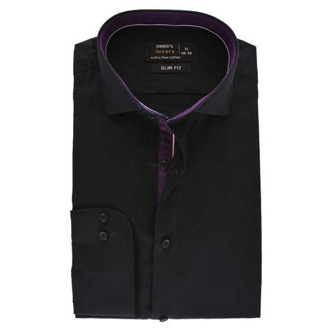 Formal Men Shirt SKU: AD19218-BLACK