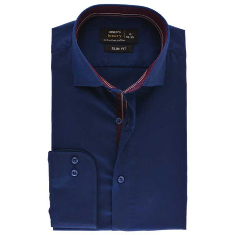 Formal Men Shirt SKU: AD19218-D-Blue