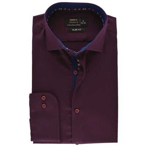 Formal Men Shirt SKU: AD19218-MAROON