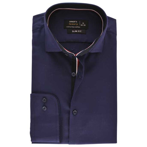 Formal Men Shirt SKU: AD19218-N-BLUE