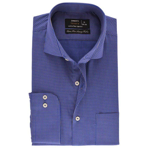 Formal Men Shirt SKU: AD19222-BLUE