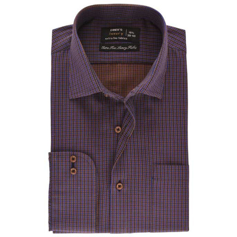 Formal Men Shirt SKU: AD19226-BROWN
