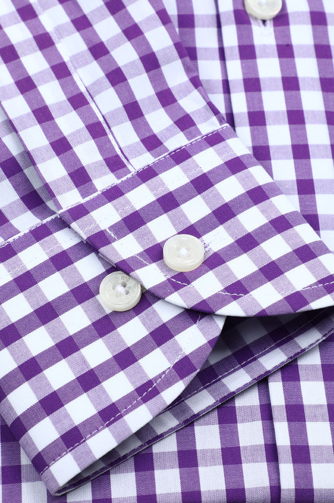 Formal Checkered Shirt SKU: AD19261-D-Purple - Diners