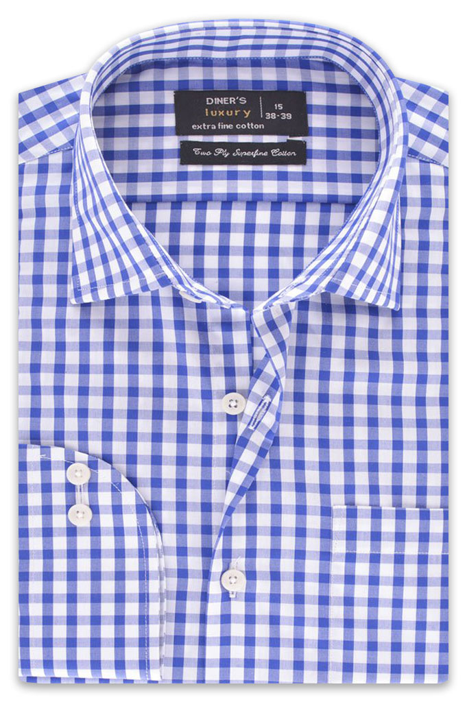 Formal Men Shirt in R-Blue SKU: AD19261-R-BLUE