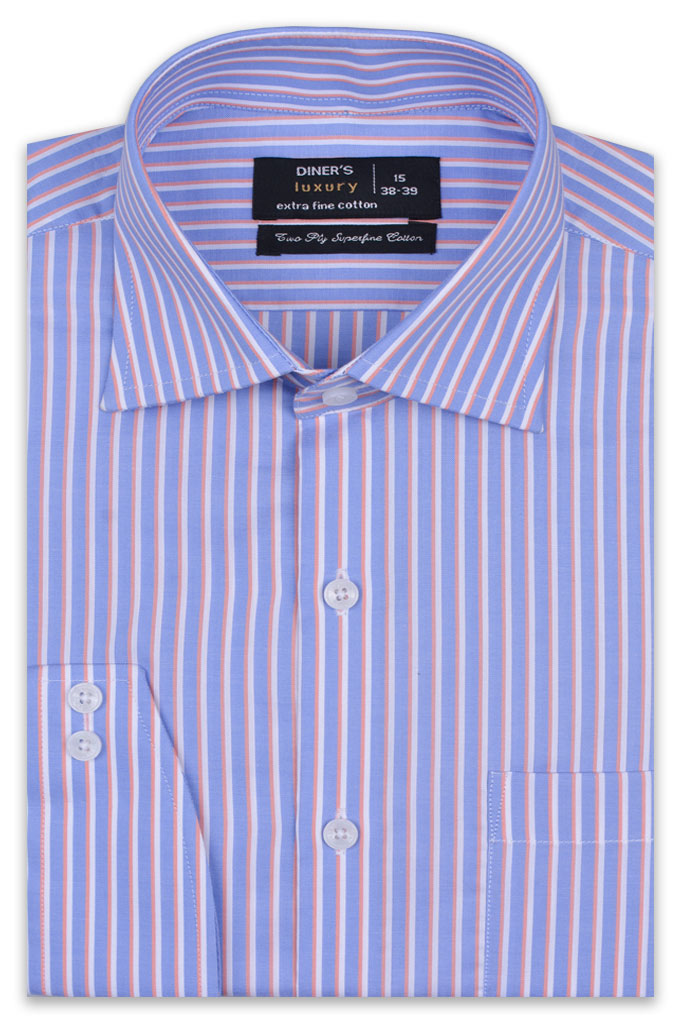 Formal Man Shirt in Blue SKU: AD19275-BLUE
