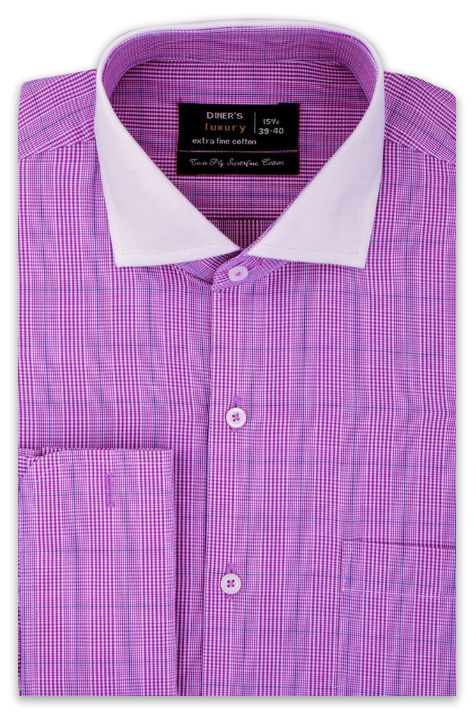 Formal Shirt In Purple SKU: AD19276-PURPLE - Diners