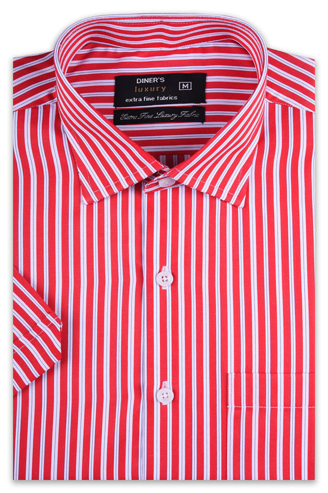 Formal Man Shirt in Red (Half Sleeves) SKU: AD19365-RED