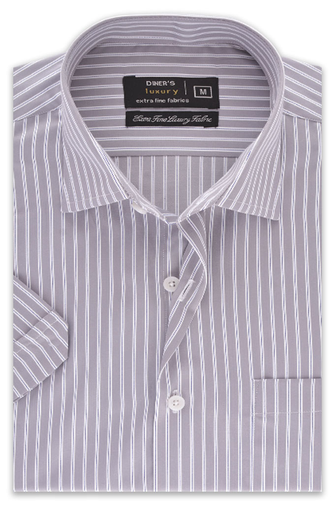 Formal Man Shirt in Grey  AD19366 (Half Sleeves) -GREY