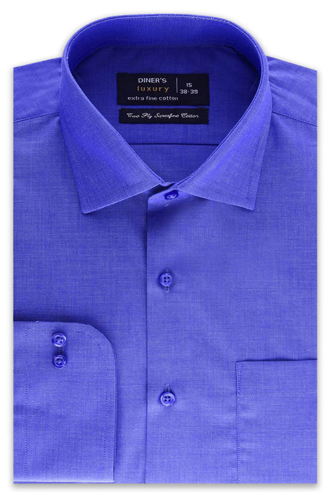 Formal Plain Shirt in D-BLUE SKU: AD19992-D-BLUE