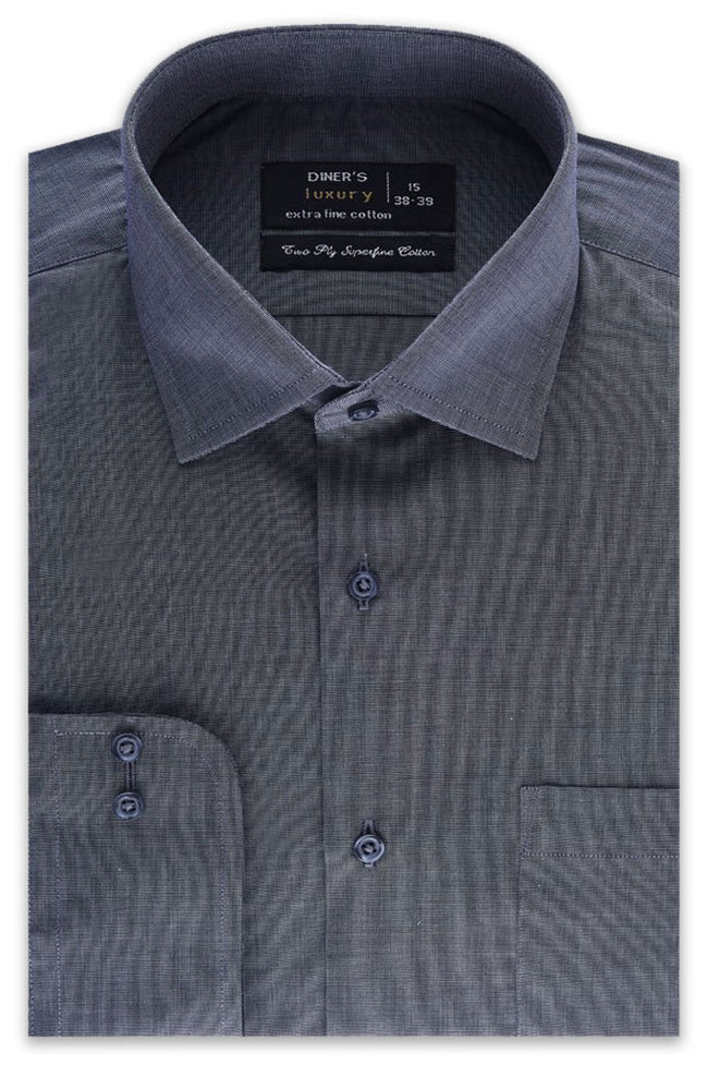 Formal Plain Shirt in D-GREY SKU: AD19992-D-GREY