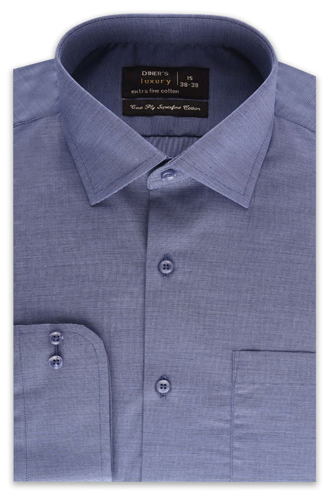 Formal Plain Shirt in GREY SKU: AD19992-GREY