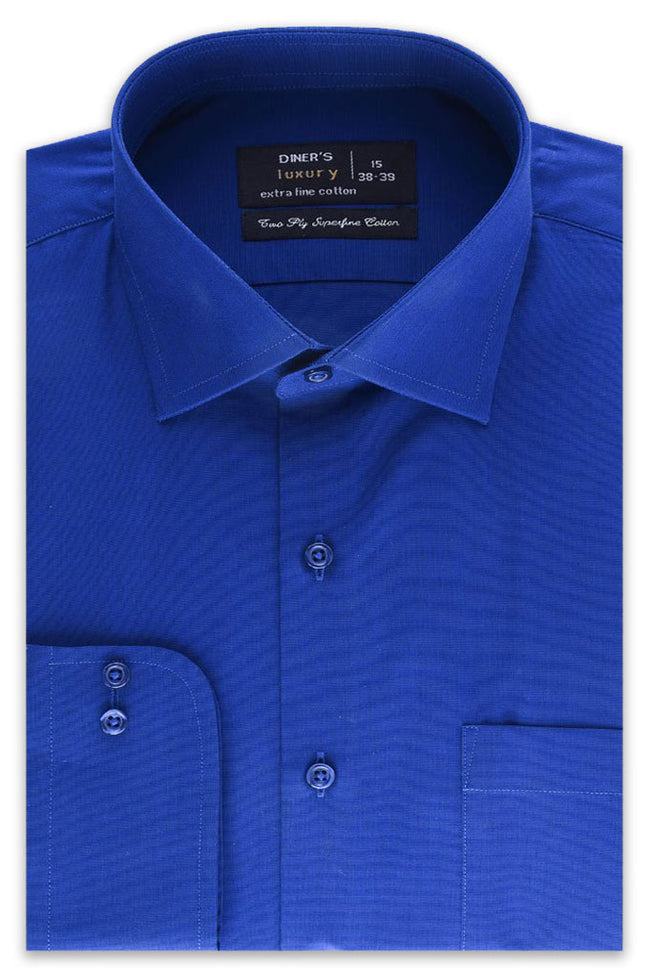 Formal Plain Shirt in R-BLUE SKU: AD19992-R-BLUE